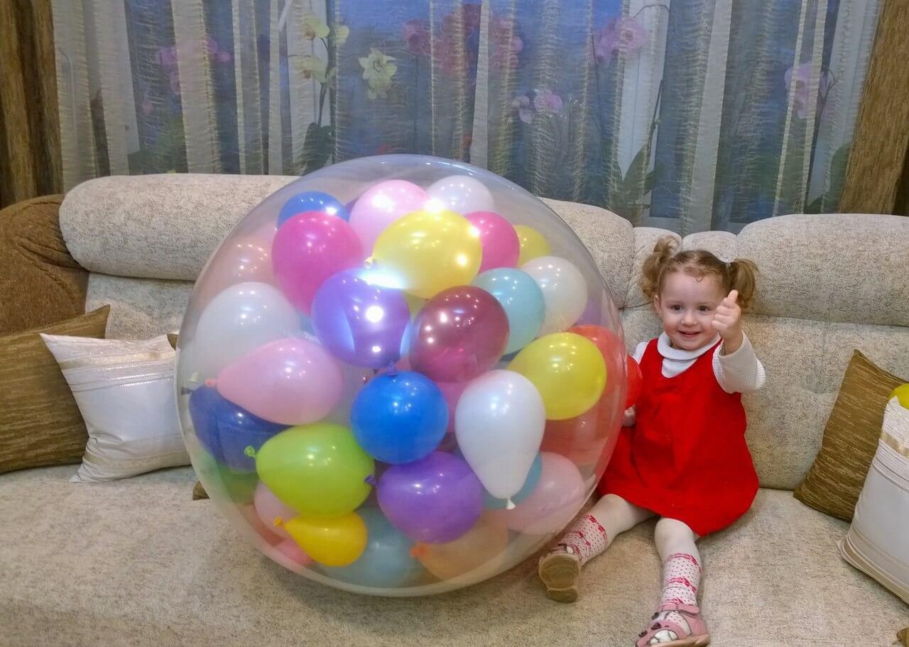 Сюрприз с шариками своими руками